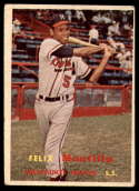 1957 Topps #188 Felix Mantilla VG Very Good RC Rookie
