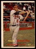 1957 Topps #188 Felix Mantilla hole RC Rookie