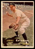 1957 Topps #192 Jerry Coleman EX/NM