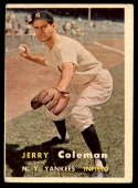 1957 Topps #192 Jerry Coleman VG Very Good