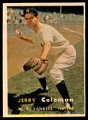 1957 Topps #192 Jerry Coleman EX++ Excellent++
