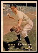 1957 Topps #192 Jerry Coleman NRMT o/c