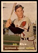 1957 Topps #193 Del Rice EX++ Excellent++