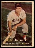 1957 Topps #202 Dick Gernert VG Very Good