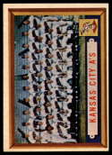 1957 Topps #204 Athletics Team NRMT o/c