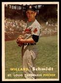 1957 Topps #206 Willard Schmidt NM Near Mint