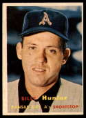 1957 Topps #207 Billy Hunter NRMT o/c