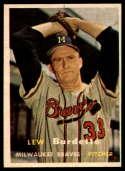 1957 Topps #208 Lew Burdette NRMT o/c