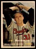 1957 Topps #208 Lew Burdette EX/NM