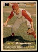 1957 Topps #222 Alex Grammas UER EX/NM