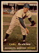 1957 Topps #252 Carl Erskine EX Excellent