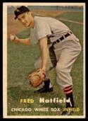 1957 Topps #278 Fred Hatfield DP EX/NM