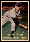 1957 Topps #349 Nelson King EX/NM