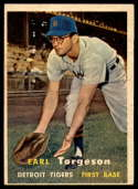 1957 Topps #357 Earl Torgeson VG/EX Very Good/Excellent