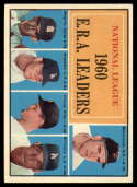 1961 Topps #45 McCormick/Broglio/Don Drysdale/Friend/Williams NL E.R.A. Leaders EX Excellent