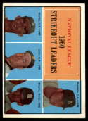 1961 Topps #49 Drysdale/Koufax/Jones,/Broglio NL Strikeout Leaders EX++ Excellent++