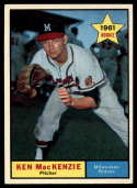 1961 Topps #496 Ken MacKenzie NM Near Mint