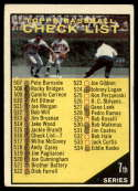1961 Topps #516 Checklist 507-587 marked