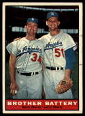1961 Topps #521 Norm Sherry/Larry Sherry Brother Battery EX/NM
