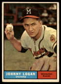 1961 Topps #524 Johnny Logan EX Excellent
