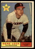 1961 Topps #527 Gene Leek G/VG Good/Very Good RC Rookie