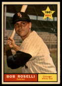 1961 Topps #529 Bob Roselli NM Near Mint