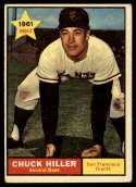 1961 Topps #538 Chuck Hiller VG/EX Very Good/Excellent RC Rookie