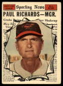1961 Topps #566 Paul Richards AS MG VG/EX Very Good/Excellent