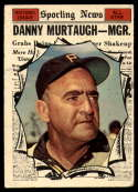 1961 Topps #567 Danny Murtaugh AS MG VG Very Good