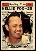 1961 Topps #570 Nellie Fox AS G Good glue