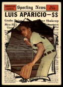 1961 Topps #574 Luis Aparicio AS EX Excellent