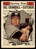 1961 Topps #583 Del Crandall AS G Good glue