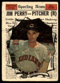 1961 Topps #584 Jim Perry AS P Poor glue