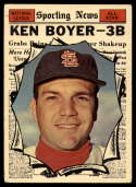 1961 Topps #573 Ken Boyer AS G Good paperloss