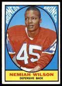 1967 Topps #30 Nemiah Wilson EX Excellent RC Rookie