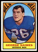1967 Topps #26 George Saimes VG/EX Very Good/Excellent