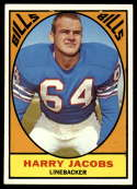 1967 Topps #23 Harry Jacobs VG Very Good