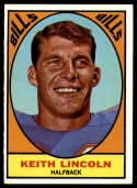 1967 Topps #15 Keith Lincoln EX/NM