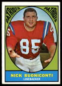 1967 Topps #13 Nick Buoniconti EX Excellent