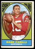 1967 Topps #2 Babe Parilli VG/EX Very Good/Excellent