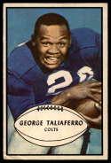 1953 Bowman #19 George Taliaferro VG Very Good