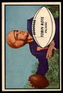 1953 Bowman #28 Tobin Rote EX/NM