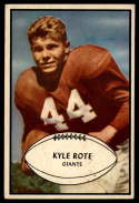 1953 Bowman #25 Kyle Rote EX Excellent