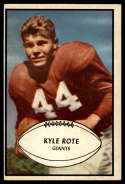 1953 Bowman #25 Kyle Rote VG/EX Very Good/Excellent