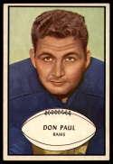 1953 Bowman #47 Don Paul EX Excellent SP