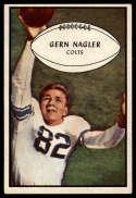 1953 Bowman #54 Gern Nagler VG/EX Very Good/Excellent SP