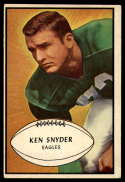 1953 Bowman #55 Ken Snyder VG/EX Very Good/Excellent SP