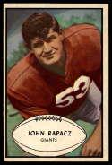1953 Bowman #57 John Rapacz VG Very Good SP