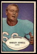 1953 Bowman #58 Harley Sewell EX++ Excellent++ SP