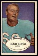 1953 Bowman #58 Harley Sewell VG/EX Very Good/Excellent SP